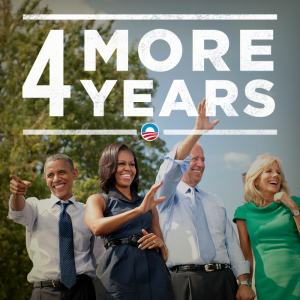 Obama, tweet, 4 more years, four more years,