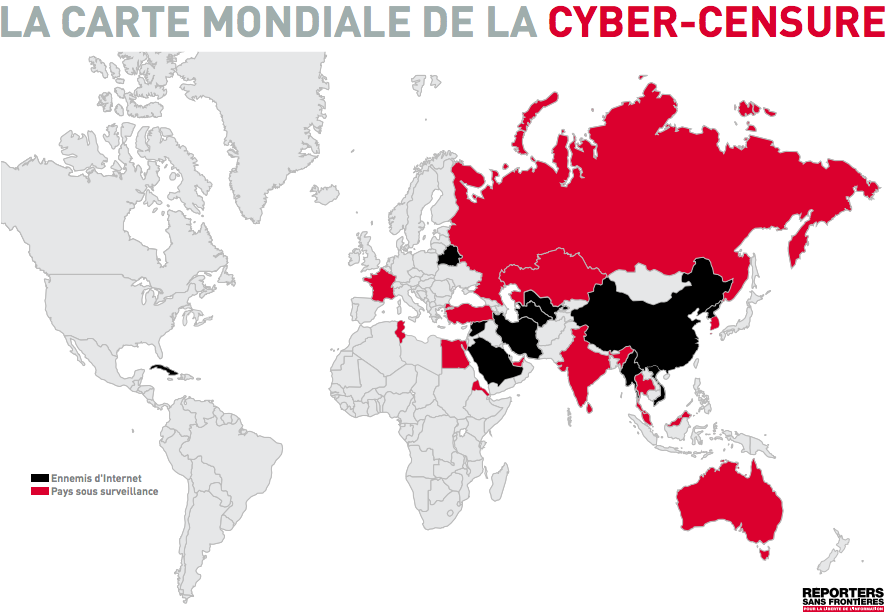 Cyber-censure, RSF, France