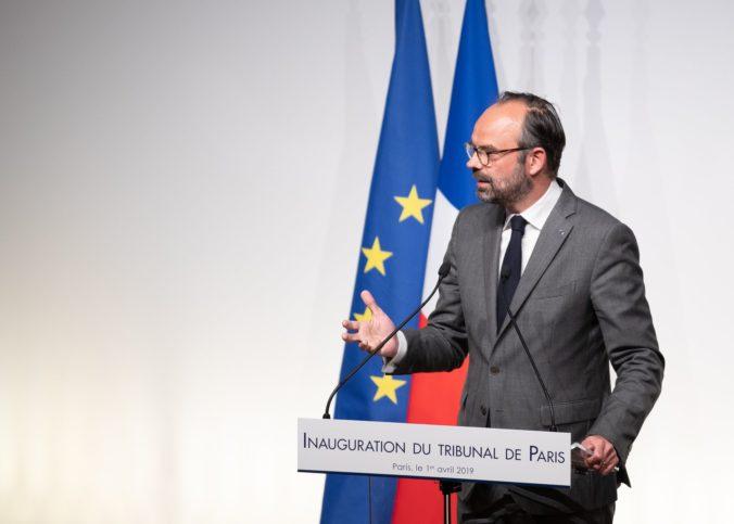 Edouard Philippe lors de l'inauguration du tribunal de Paris le 1er mai 2019