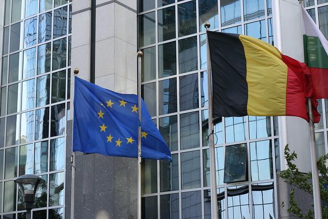 Vue extérieur du Parlement européen à Bruxelles