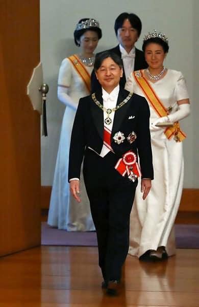 Le nouvel empereur Nahurito, lors de son couronnement