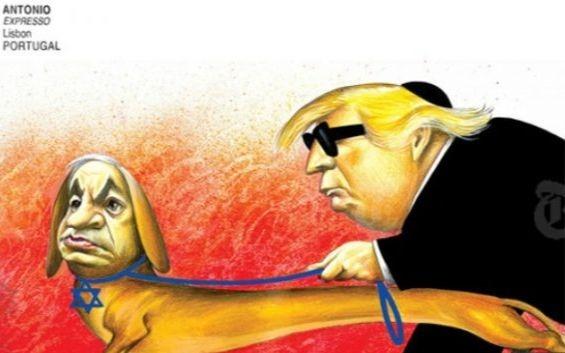 Le dessin polémique du New York Times representant Donald Trump et Benyamin Netanyahou