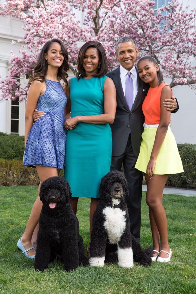 La famille Obama lors de la fête de Pâques
