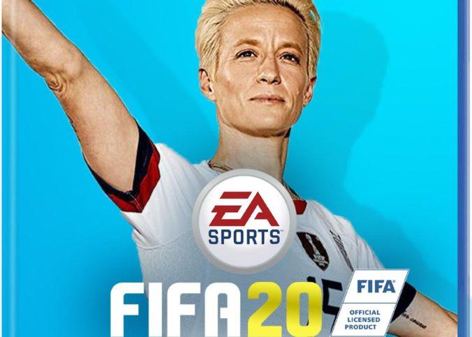 Couverture imaginée de FIFA20 avec Megan Rapinoe, imaginée par IGN