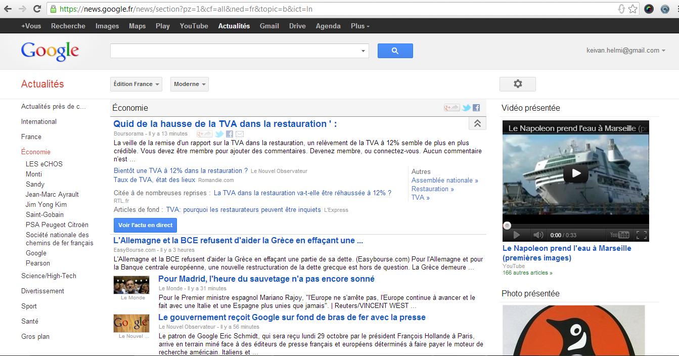 Bras de fer à venir entre Google et la presse en ligne
