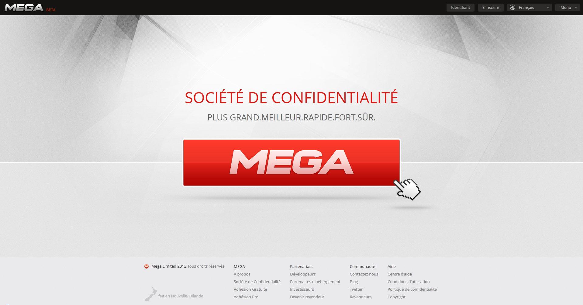 Dotcom revient avec son MEGA.co.nz pour révolutionner le monde du cloud