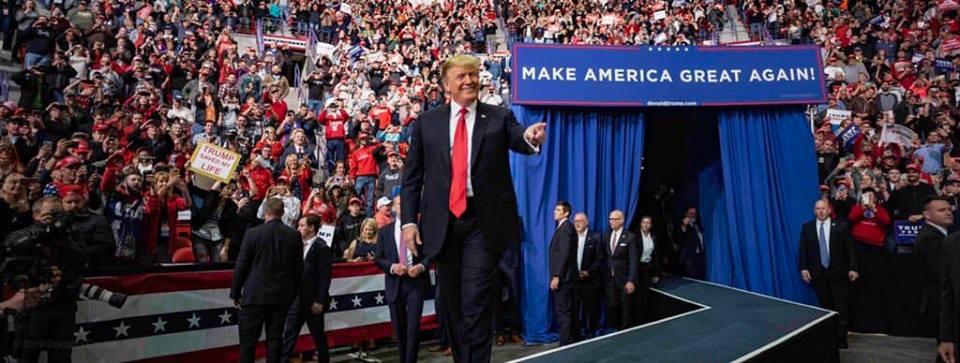Donald Trump lors d'un meeting en avril 2019