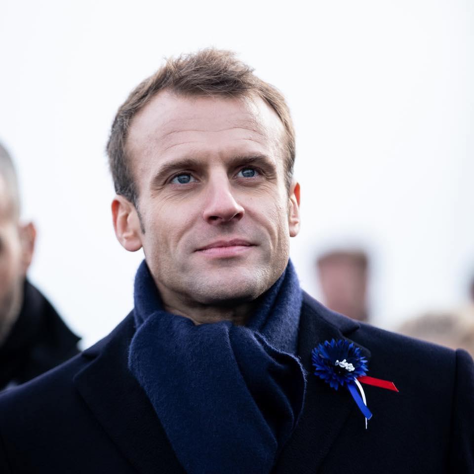 Portreait d'Emmanuel Macron en novembre 2018