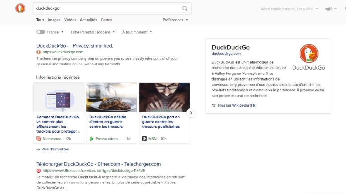 DuckDuckGo : le navigateur web déclare la guerre aux traceurs